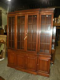 Baker Breakfront China Cabinet by Henkel Harris Solid Cherry Dining Room Breakfront China Cabinet