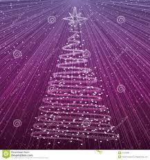 Christmas Tree On Purple Background