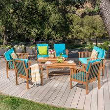 Carolina Acacia 8 piece Outdoor Sofa Set by Christopher Knight