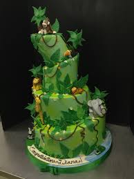 28 Images Of Monkey Jungle Baby Shower Cakes Salopetopcom