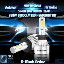 led headlight conversion kit h7 1200w white high power 3k 6k