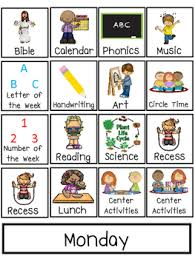 Preschool Interactive Daily Schedule Chart PreK Homeschool