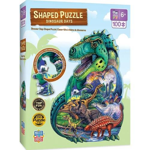 Masterpieces Dinosaur Days 100pc Shaped Puzzle