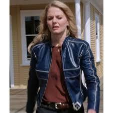 emma swan blue leather jacket by jennifer morrison