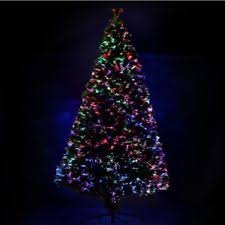 3 7ft Pre Lit Fiber Optic Artificial Christmas Tree LED Multicolor Lights Stand