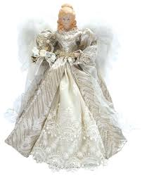 16 Silver Elegant Angel Tree Topper
