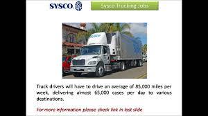 100 Sysco Trucking Jobs YouTube