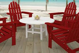 Red Adirondack Chairs Polywood by Amazon Com Polywood Rct38wh Round 38