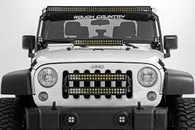 Jeep 20 Inch LED Grille Mounts W/Two Dual Row Light Bars | Light Bar ...