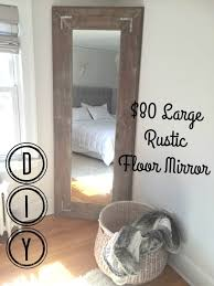 DIY Large Leaning Floor Mirror