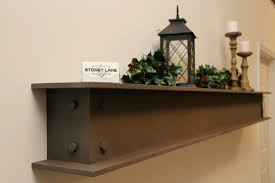 100 Griffin Ibeam Faux Steel IBeam Fireplace Mantle With Bolt Detail