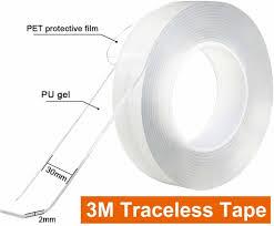 doppelseitiges klebeband stark 5m magisch nano doppelseitige klebebänder transparent ablösbar klebestreifen doppelseitig spurloses waschbares