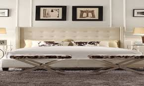 Target Roma Tufted Wingback Bed by Bedroom Cream Linen Tufted Beige Damask Napkin Tan Wingback