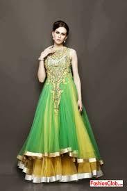 Latest Mehndi Dress Designs For Girls 4