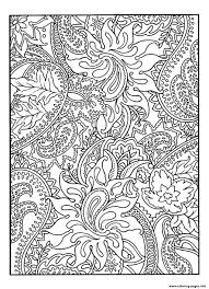 Adult Pretty Patterns Plant Coloring Pages Print Download