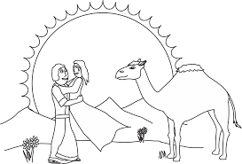 My Childrens Curriculum Isaac And Rebekah Throughout Coloring Page