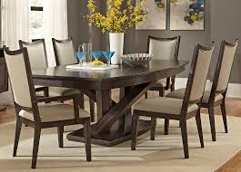 Pedestal Dining With Solids Rubberwood and Charcoal Finish