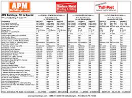 Fill In Building Specials APM Pole Building & Garage Kits