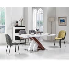 esszimmer möbel weiß hochglanz moderne holz esstisch made in china buy esstisch und stühlen beliebte esstisch und stühlen hohe qualität glasplatte