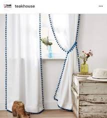 Plum And Bow Blackout Pom Pom Curtains by Pom Pom Fringe Curtains Exactly What I Want To Make For The