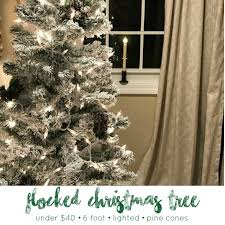 DIY How To 6 Foot Flocked Christmas Tree With Lights And Pinecones For Under 40
