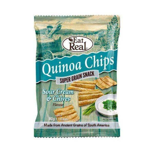 Eat Real Quinoa Chips - Sour Cream & Chives, 80g