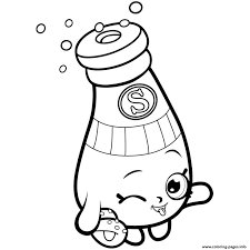 Pantry Sally Shakes Shopkins Season 1 Coloring Pages Printable And Book To Print For Free Find More Online Kids Adults Of