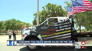 Memorial, Procession For Beloved Tow Truck Driver Killed On The Job