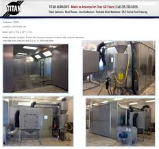 Media Blasting Cabinet Manufacturers by Titan Abrasive Systems Llc Ivyland Pennsylvania Pa 18974