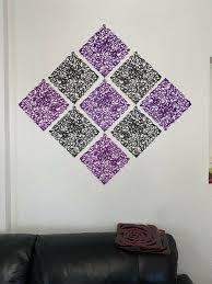 deko wanddeko wohnzimmer schwarz rot lila wie neu