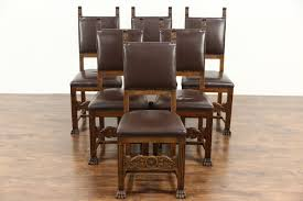 SOLD - Italian Renaissance 1900 Antique Set Of 6 Dining Chairs ... Tiger Oak Fniture Antique 1900 S Tiger Oak Round Pedestal With Ding Chairs French Gothic Set 6 Wood Leather 4 Victorian Pressed Spindle Back Circa Room 1900s For Sale At Pamono Antique Ding Chairs Of Eight Chippendale Style Mahogany 10 Arts Crafts Seats C1900 Glagow Antiques Atlas Edwardian Queen Anne Revival Table 8 Early Sets 001940s Extendable With Ball Claw Feet Idenfication Guide