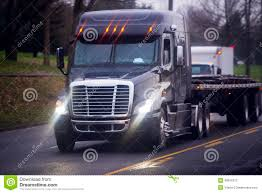 Big Modern Semi Truck With Bright Headlight And Flat Bed Stock Image ... Semi Truck Lights Stock Photos Images Alamy Luxury All Lit Up I Dig If It Was Even A Hauler Flashing Truck Lights At Accident Video Footage Tesla Electrek Scania Coe With Large Sleeper Lots Of Chicken Trucks 4 A Lot Bright Youtube Evening Stop Number Trucks In Parking Orbitz Led Latest News Breaking Headlines And Top Stories Blue And Trailer On Road With Traffic Image
