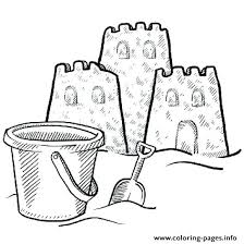Sandcastle Coloring Page Sand Castle Fun And A Bucket Pages