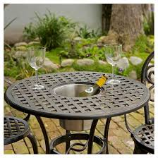 Cast Aluminum Outdoor Sets by Angeles 3pc Cast Aluminum Patio Bistro Furniture Set With Ice