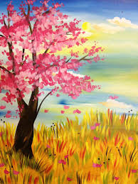 Easy Spring Paintings Paintbar Events Painting Classes Calendar Watercolor Of Landscapes To Paint A