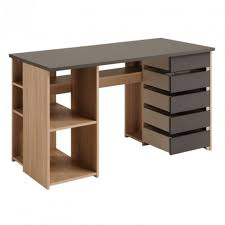 bureau chene clair bureau 5 tiroirs pivitants chêne clair gris clever univers bureau