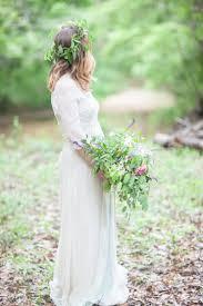 3 4 Sleeves Saja Wedding Gown Woodland Bohemian Elopement Inspiration