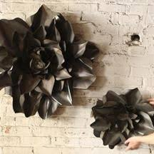 Small And Large Metal Raw Wall Flowers By Kalalou