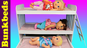 baby alive triple bunk beds 3 babies in a doll bed u0026 trundle