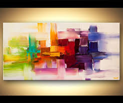original abstract paintings by osnat colorful modern