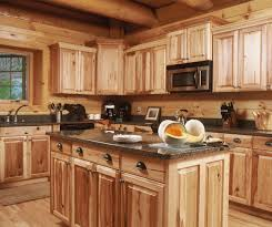 charming rustic log cabin kitchen ideas using wooden center island