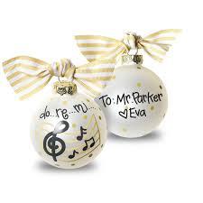 Do Ri Me Musical Small Glass Christmas Ornament