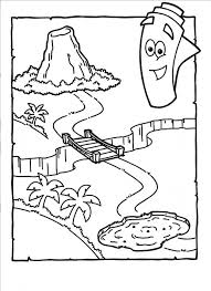 Map Dora The Explorer Coloring Pages Printable Cartoon Sheet