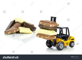 100 Toy Forklift Truck Pieces Chocolate On Stock Photo Edit Now