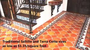 Saltillo Tile Sealer Exterior by Saltillo And Terra Cotta Tile On Sale With Global Shipping Youtube