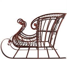 Plow And Hearth 17 Indoor Outdoor Metal Decorative Sleigh