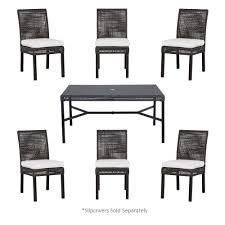 7 Piece Patio Dining Set Canada by 6 7 Person Patio Dining Furniture Patio Furniture The Home Depot