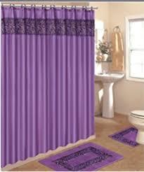 amazon com purple zebra print ceramic bathroom set 4 pieces