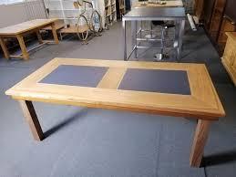esszimmer tisch mit schieferplatten kaufen auf ricardo
