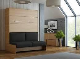 details zu schrankbett wandbett klappbett mit sofa classic 160x200 cm in kirsche